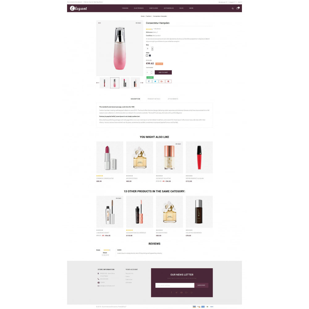 theme - Health & Beauty - Elegant - Cosmetic Store - 5