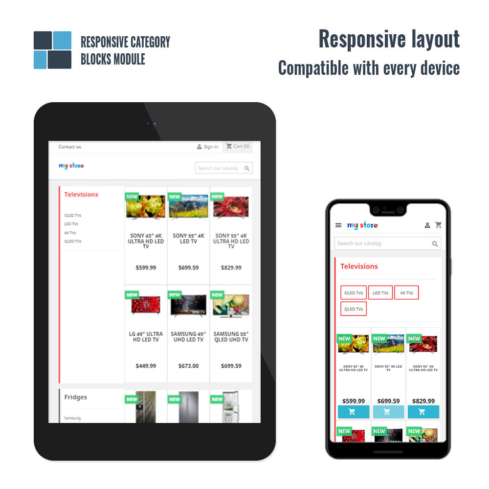 module - Bloques, Pestañas y Banners - Responsive category blocks - 4