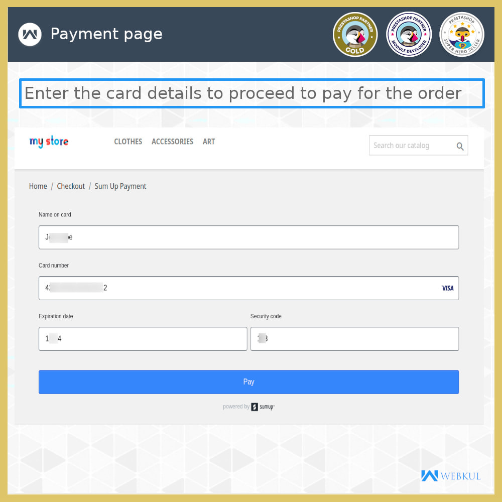 module - Payment by Card or Wallet - SumUp Payment Gateway - 6