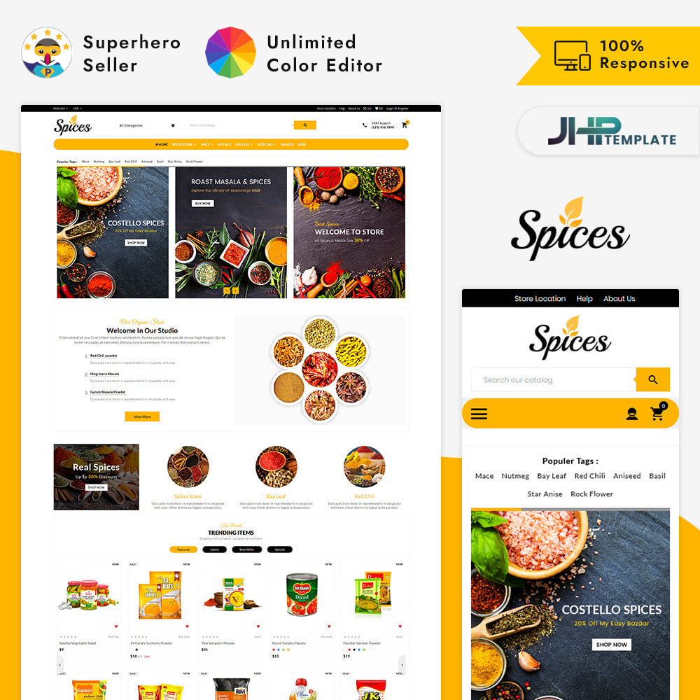 theme - Health & Beauty - Spices – The Organic Shop - 1