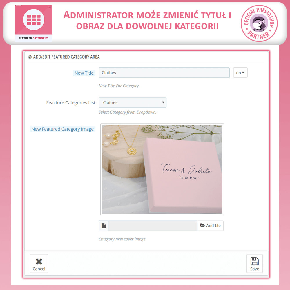 module - Personalizacja strony - Ocechowany Kategorie - 8