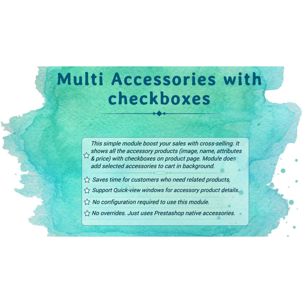 module - Cross-selling & Product Bundles - Multi Accessories with Checkboxes - 1