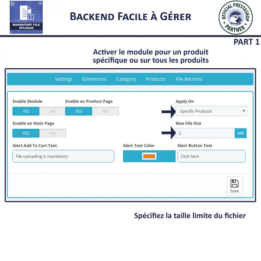 module - Information supplémentaire & Onglet produit - Téléchargement De Fichier Obligatoire - 5