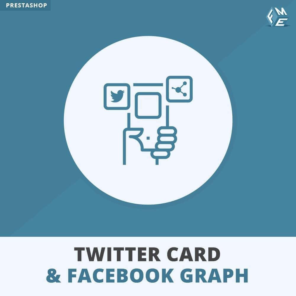 module - Sociale Widgets - Twitter-kaart en Sociale Media-Grafiek - 1