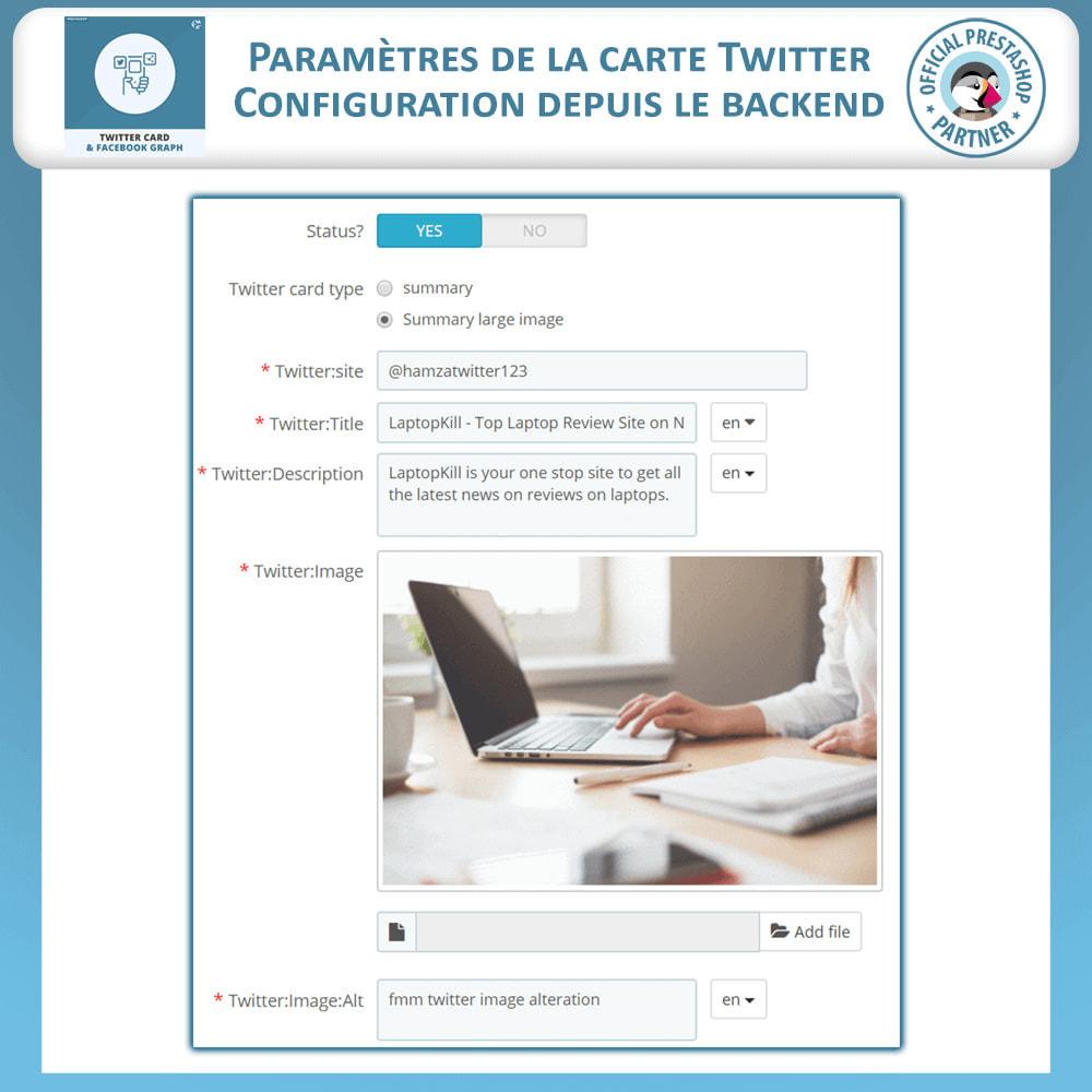module - Widgets réseaux sociaux - Carte Twitter et Graphique des Médias Sociaux - 5