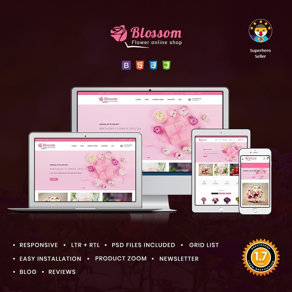 theme - Gifts, Flowers & Celebrations - Blossom Flowers & Gifts Shop - 1