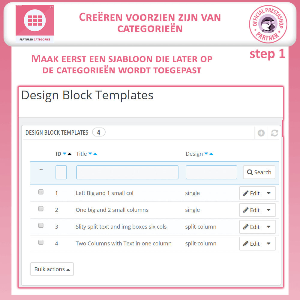 module - Personalisering van pagina's - Uitgelichte Categorieën - 9