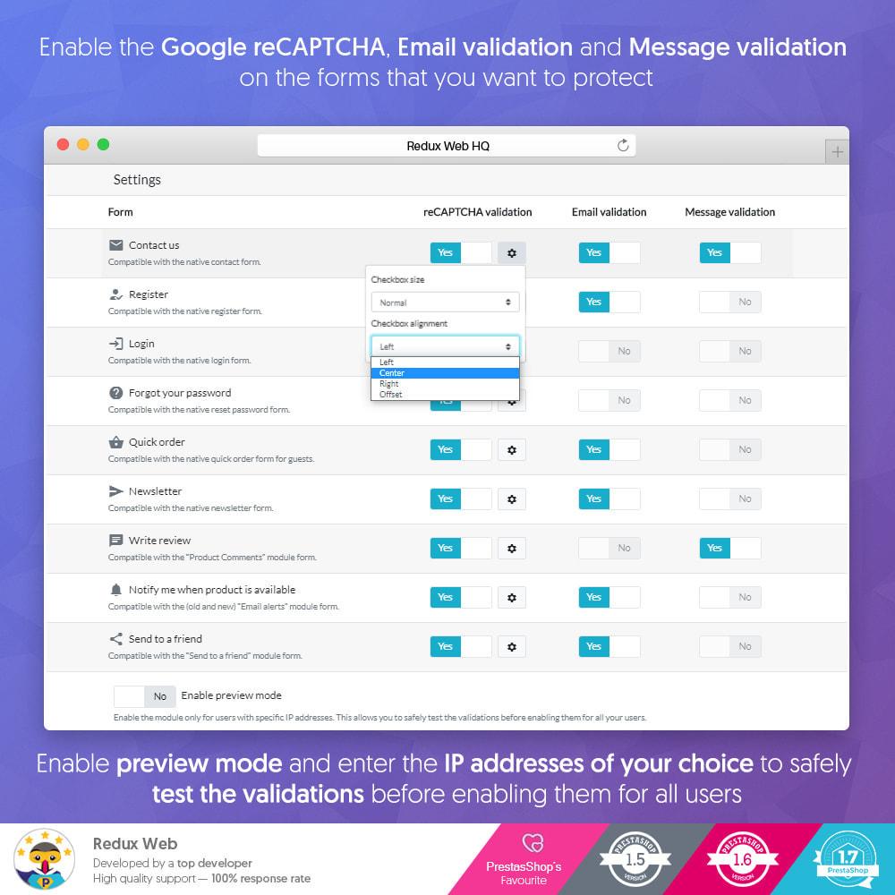 module - Sicherheit & Berechtigungen - Advanced Google Re-Captcha Antispam & Gefälschte Konten - 8