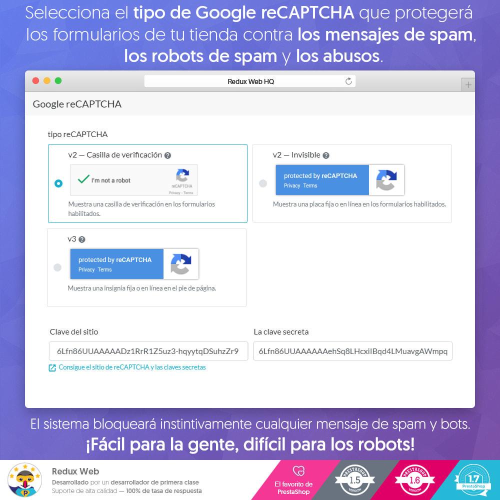 module - Seguridad y Accesos - Avanzado Google Re-Captcha Antispam y Cuentas Falsas - 3