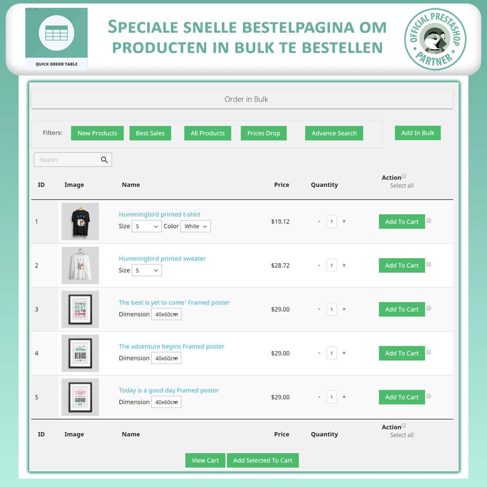 module - Orderbeheer - Snelle Besteltabel - 2