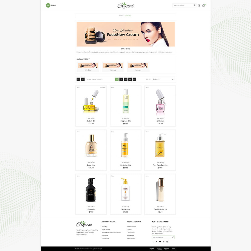 theme - Health & Beauty - Crystal Cosmétique - Cosmetic Mega Shop - 3