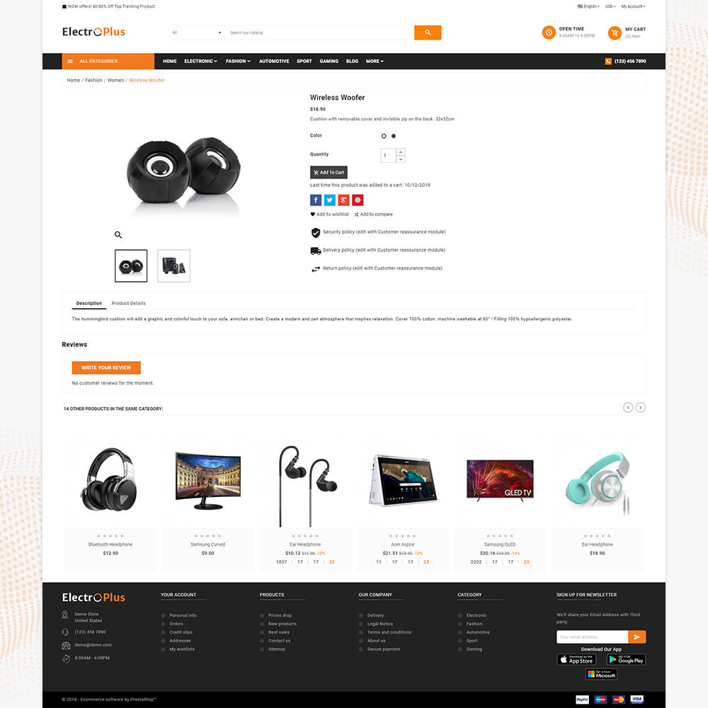 theme - Электроника и компьютеры - Mega Mall Electro Plus – Electronices Shop - 4