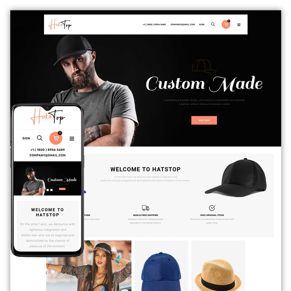 theme - Mode & Chaussures - Hatstop - Cap Store - 1