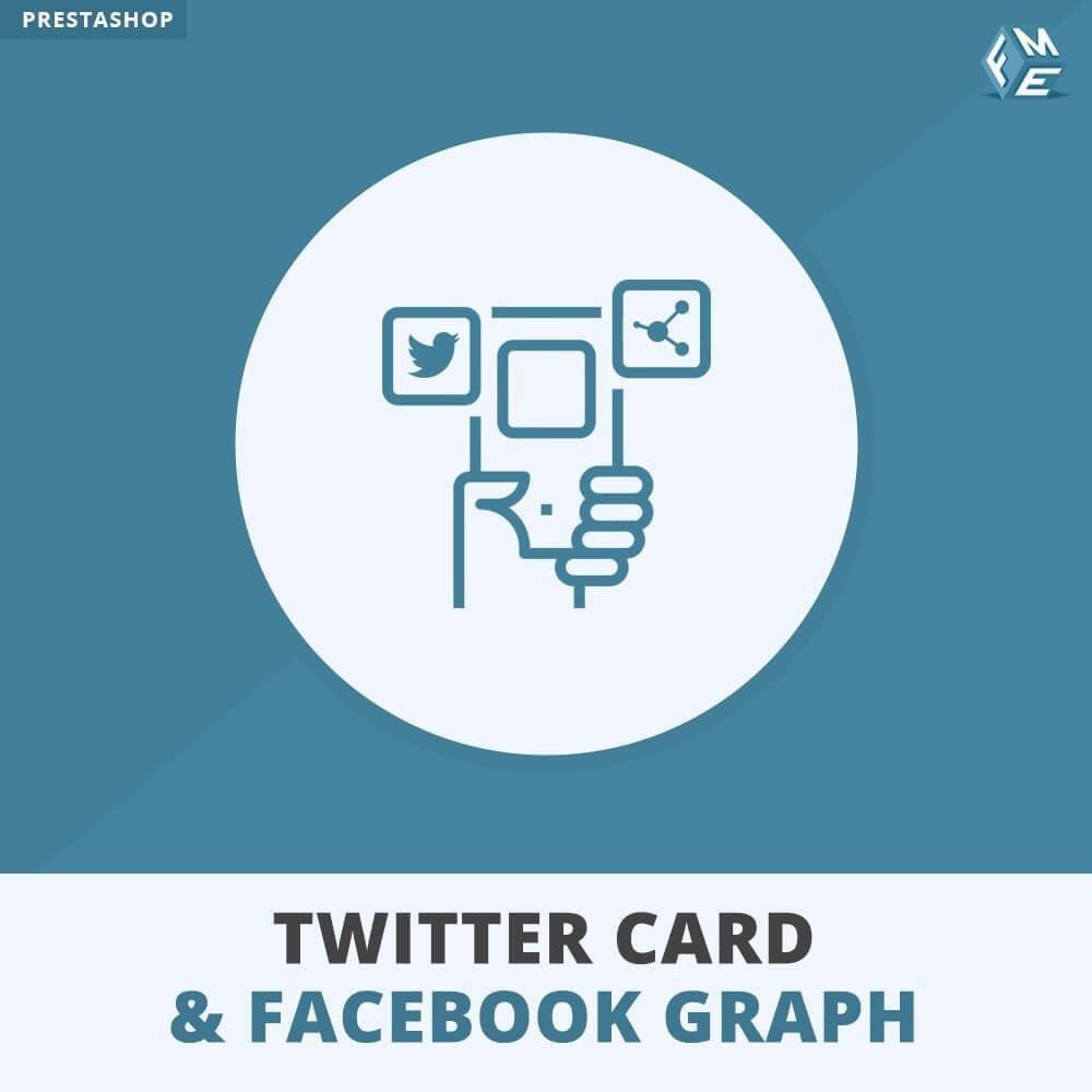 module - Widgety serwisów społecznościowych - Karta Twittera i Wykres Mediów Społecznościowych - 1