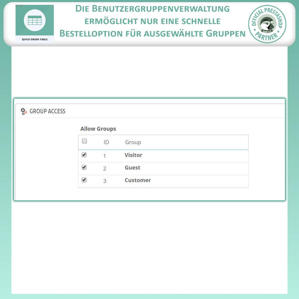 module - Auftragsabwicklung - Schnell Bestelltabelle - 9
