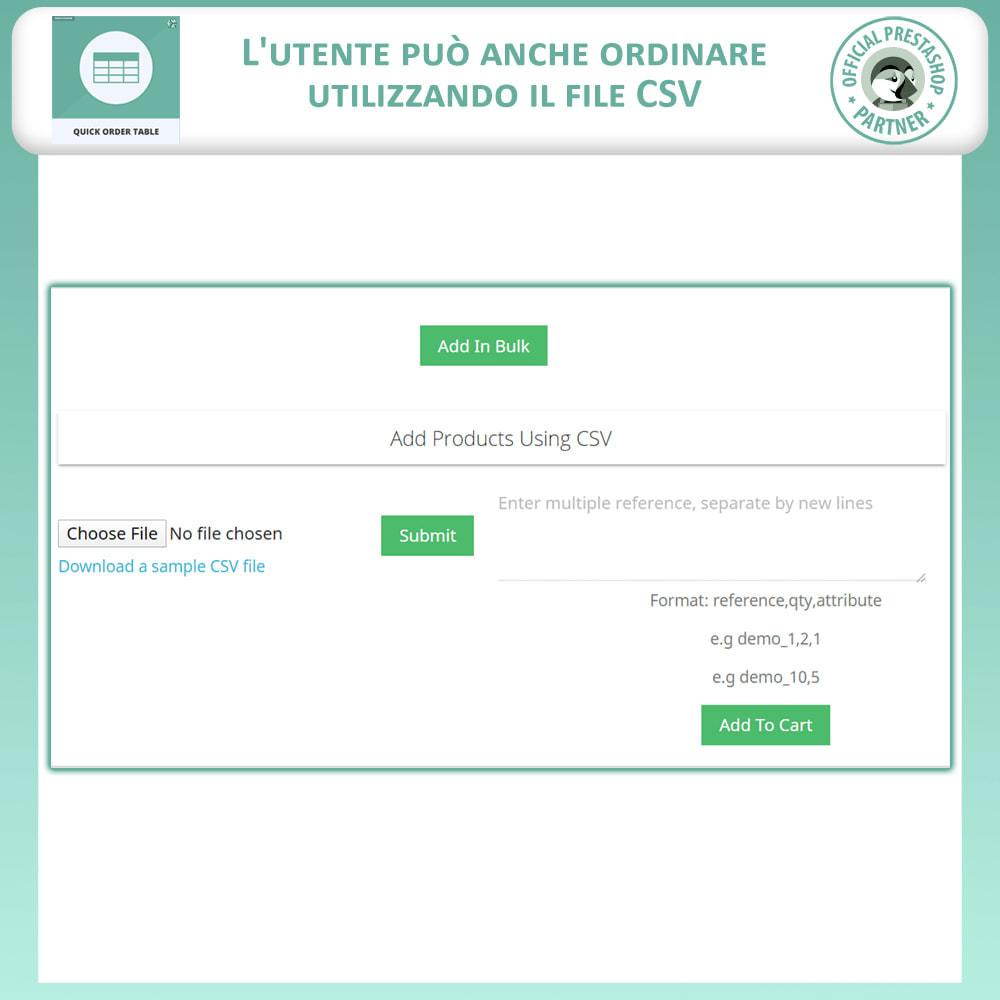 module - Gestione Ordini - Tabella Ordine Rapido - 6