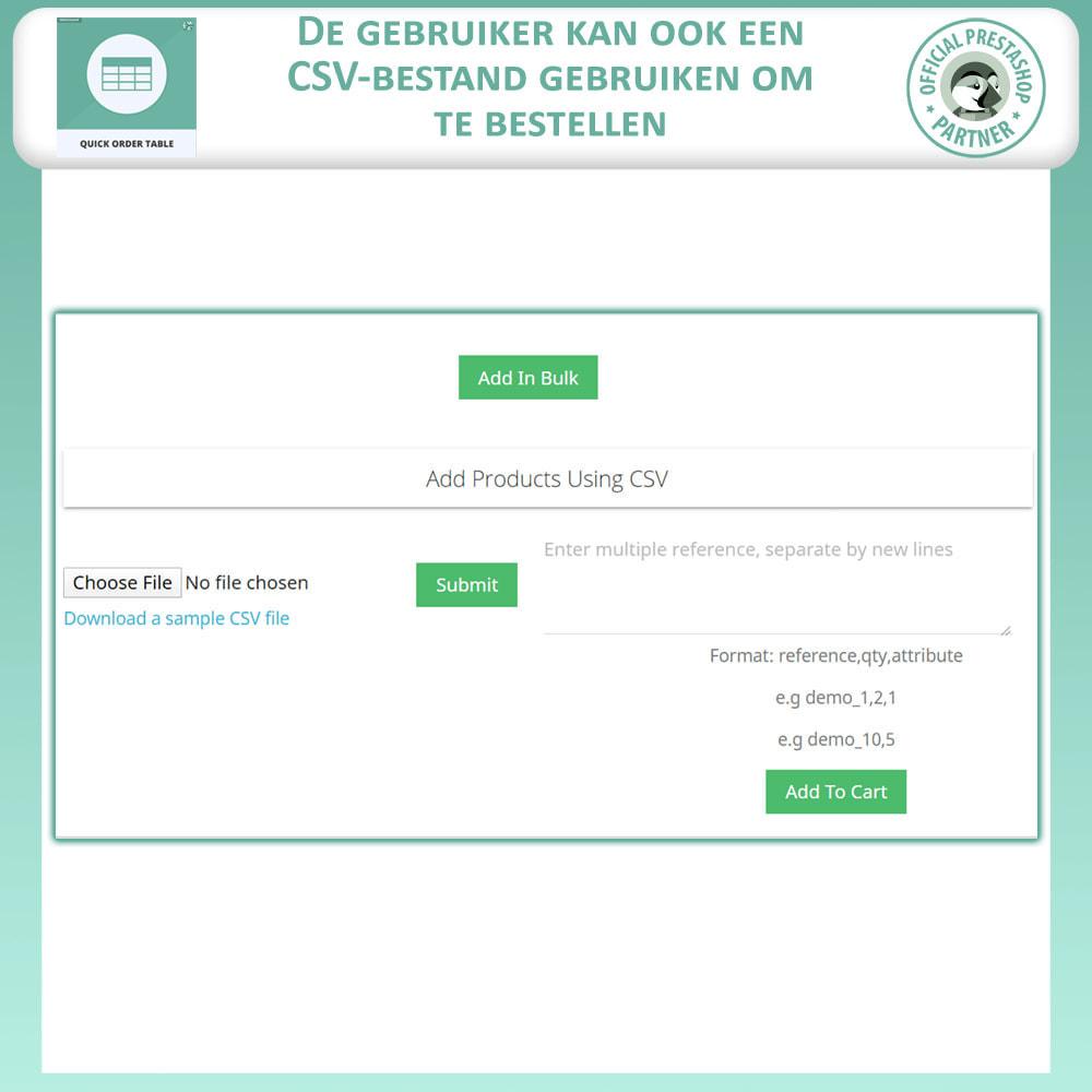 module - Orderbeheer - Snelle Besteltabel - 6