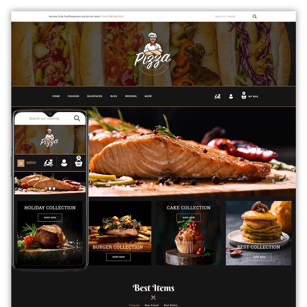 theme - Lebensmittel & Restaurants - Pizza - Food Store - 1