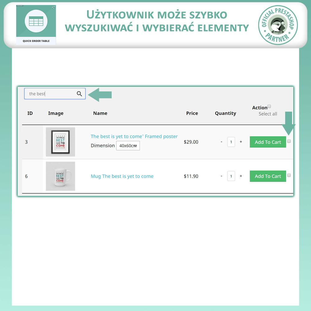 module - Zarządzanie zamówieniami - Tabela Szybkich Zamówień - 4