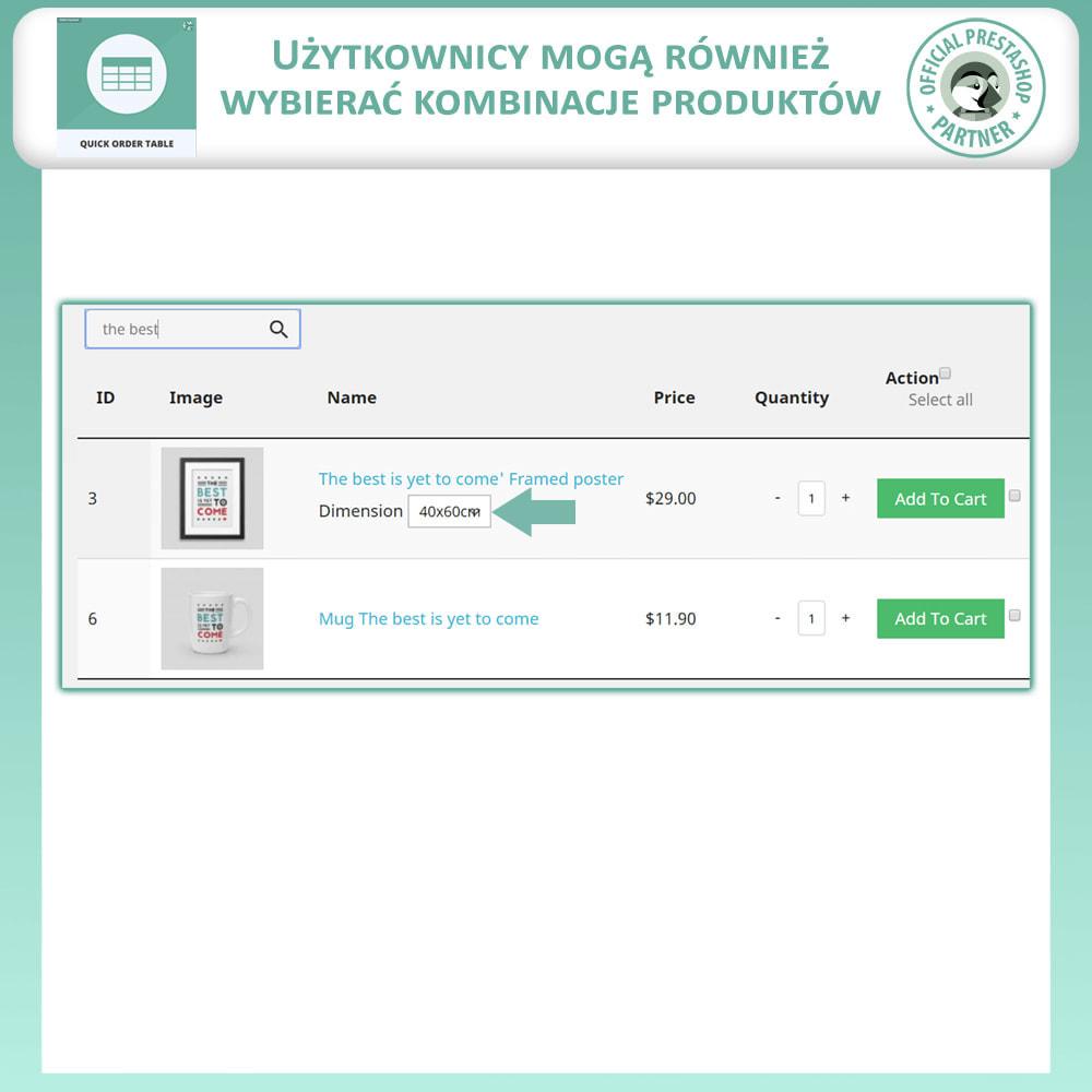 module - Zarządzanie zamówieniami - Tabela Szybkich Zamówień - 5