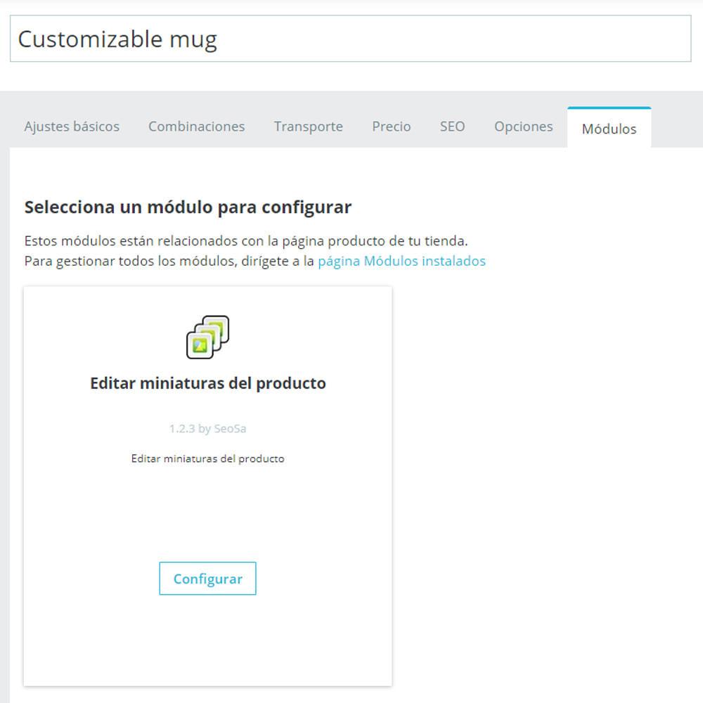 module - Fotos de productos - Editor - sustitución de miniaturas - 2