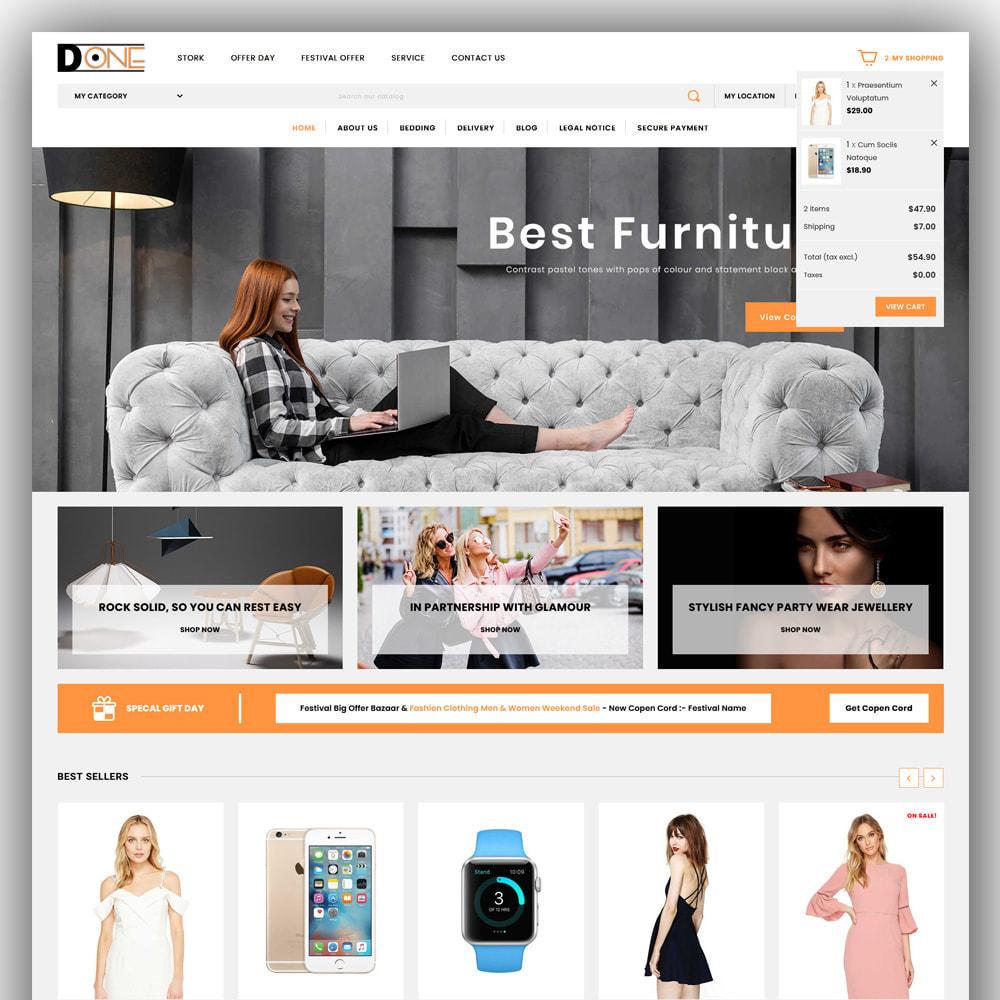 theme - Fashion & Shoes - D- One - Mega Store - 3