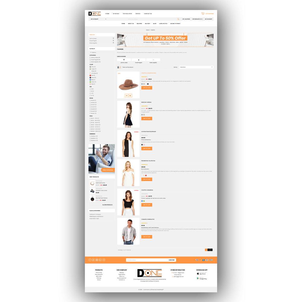theme - Fashion & Shoes - D- One - Mega Store - 5