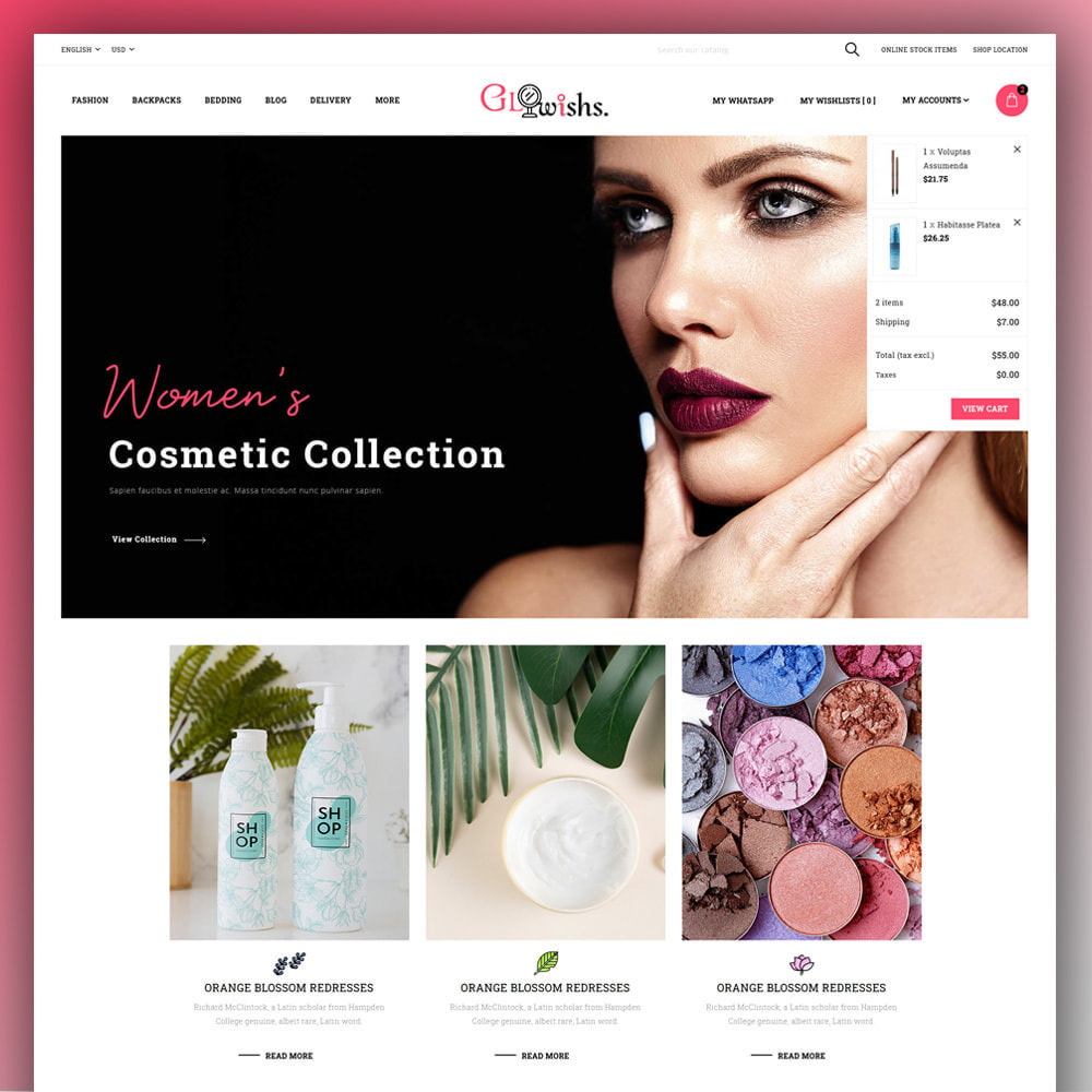 theme - Health & Beauty - Glowishs - Cosmetic Store - 3
