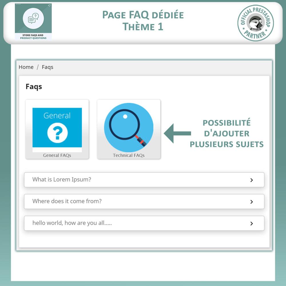 module - FAQ (questions fréquentes) - Questions fréquentes + Questions sur les produits - 3