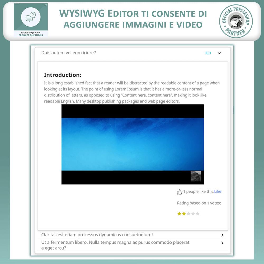 module - FAQ (Domande Frequenti) - FAQ del Negozio + Domande sui Prodotti - 6