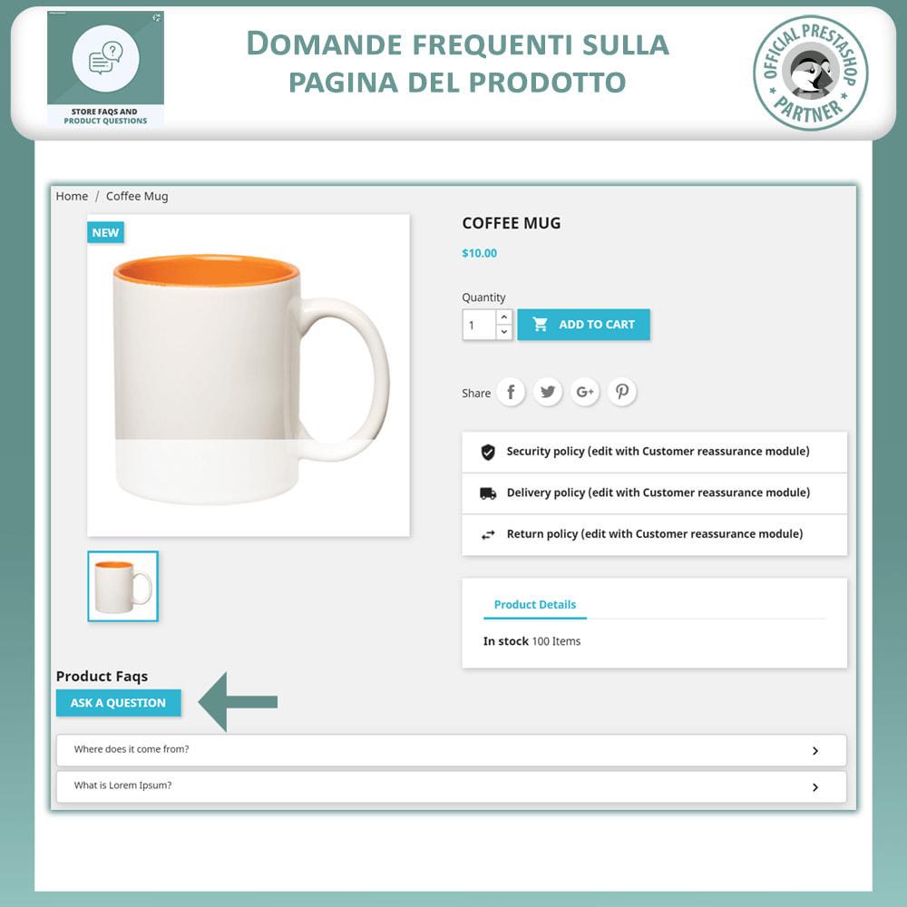module - FAQ (Domande Frequenti) - FAQ del Negozio + Domande sui Prodotti - 8