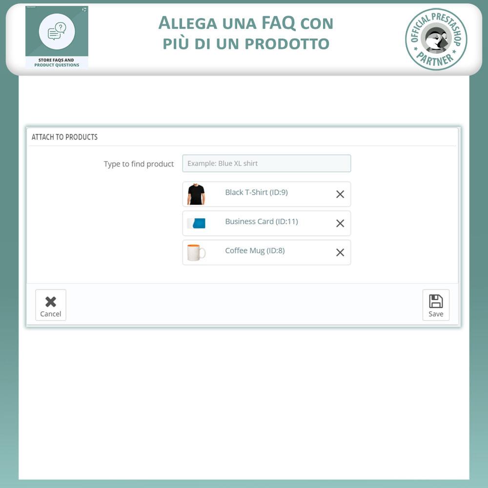 module - FAQ (Domande Frequenti) - FAQ del Negozio + Domande sui Prodotti - 12