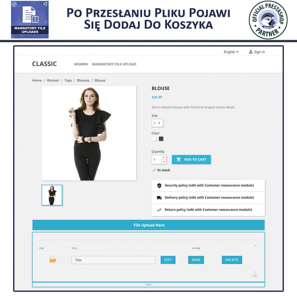 module - Dodatkowe informacje & Zakładka produktu - Obowiązkowe Przesyłanie Plików - 4