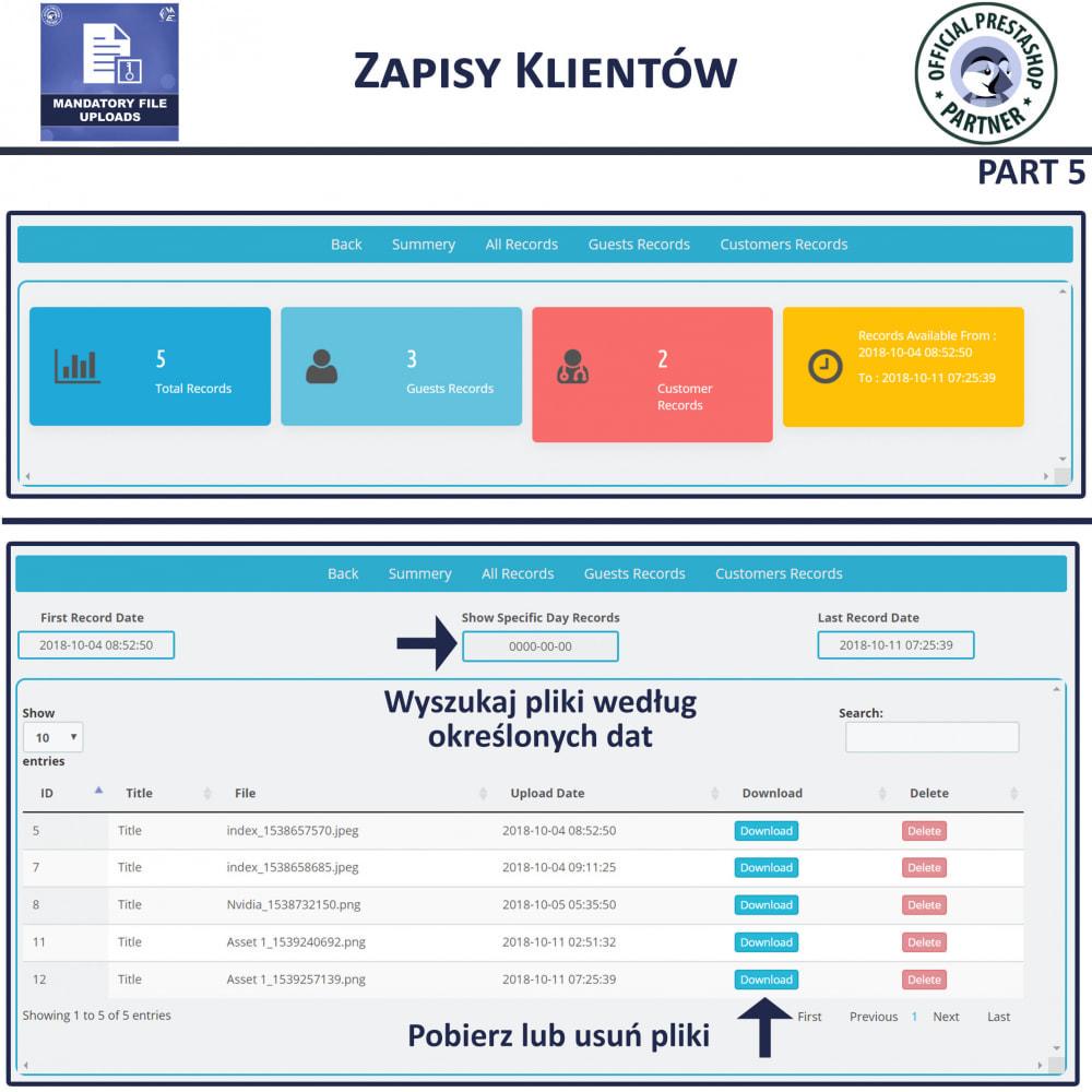 module - Dodatkowe informacje & Zakładka produktu - Obowiązkowe Przesyłanie Plików - 9