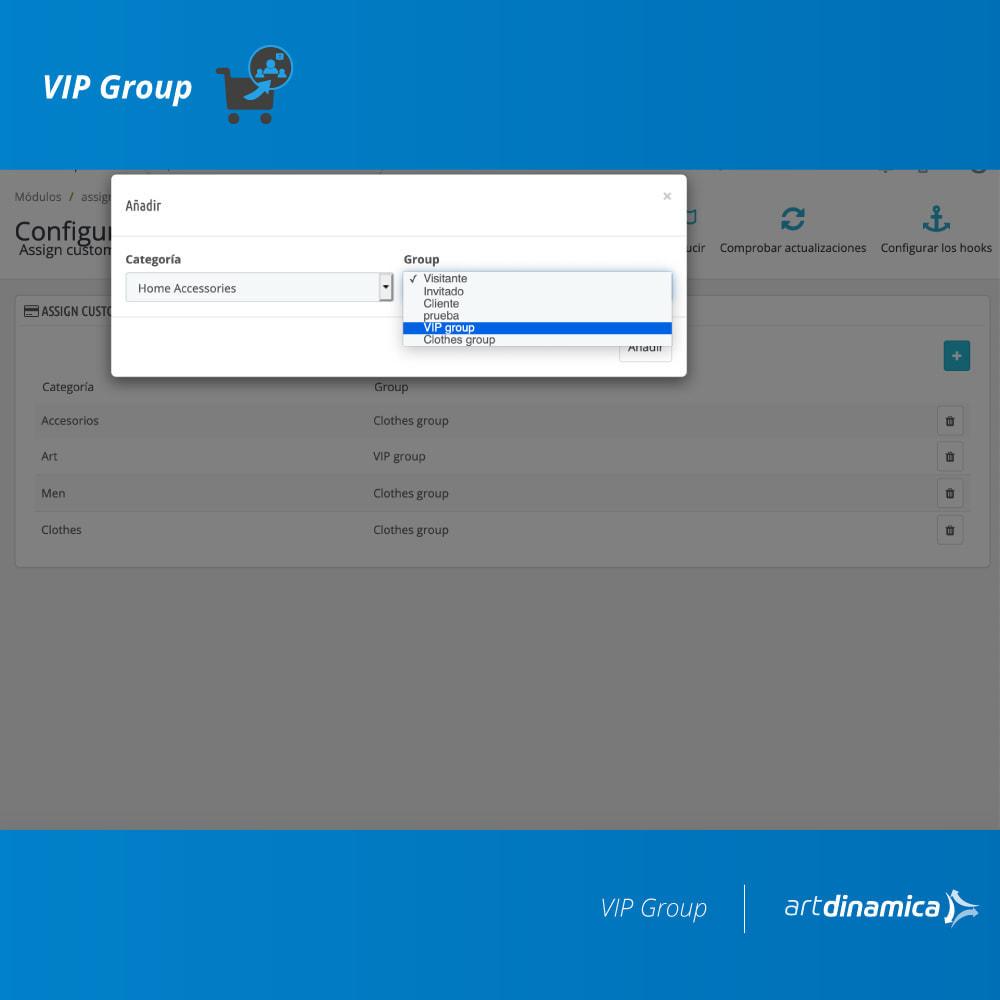 module - Gestión de clientes - Asigna clientes que compran productos a grupos - 2