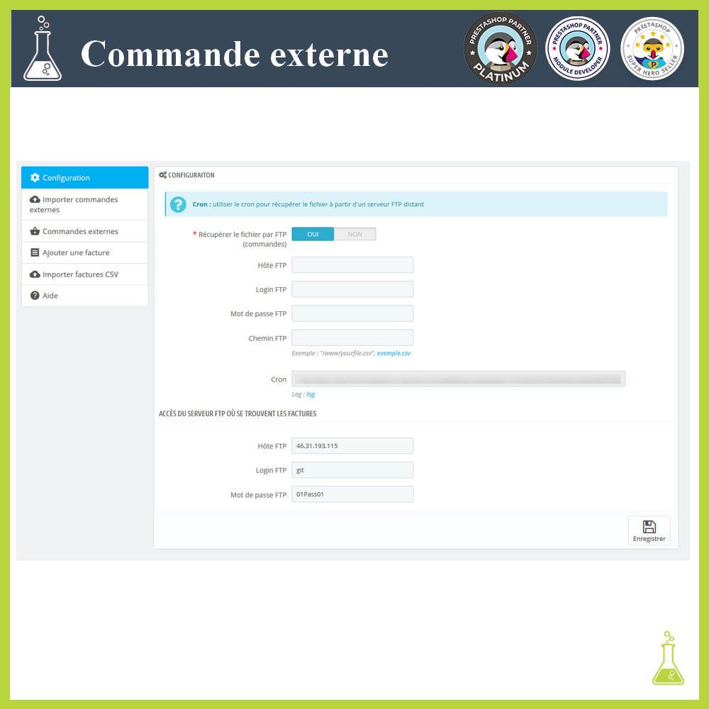 module - Gestion des Commandes - Importer des commandes externes - 2