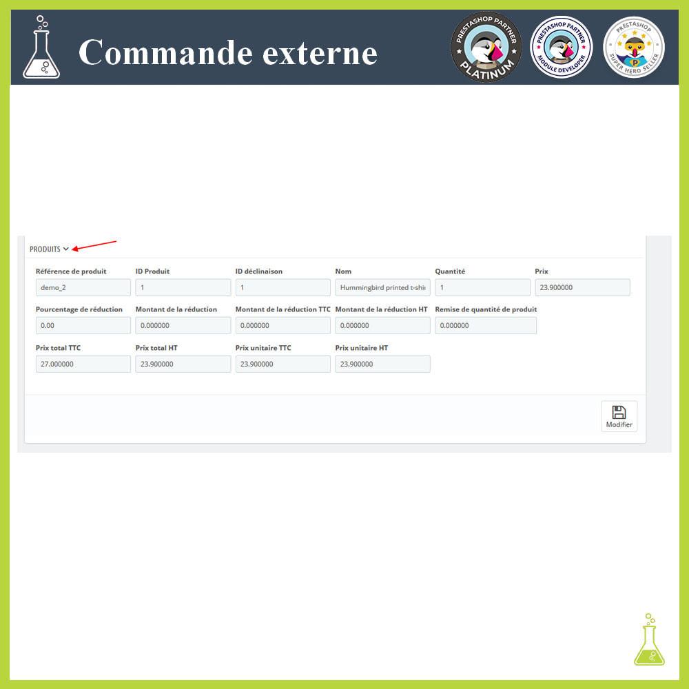 module - Gestion des Commandes - Importer des commandes externes - 8