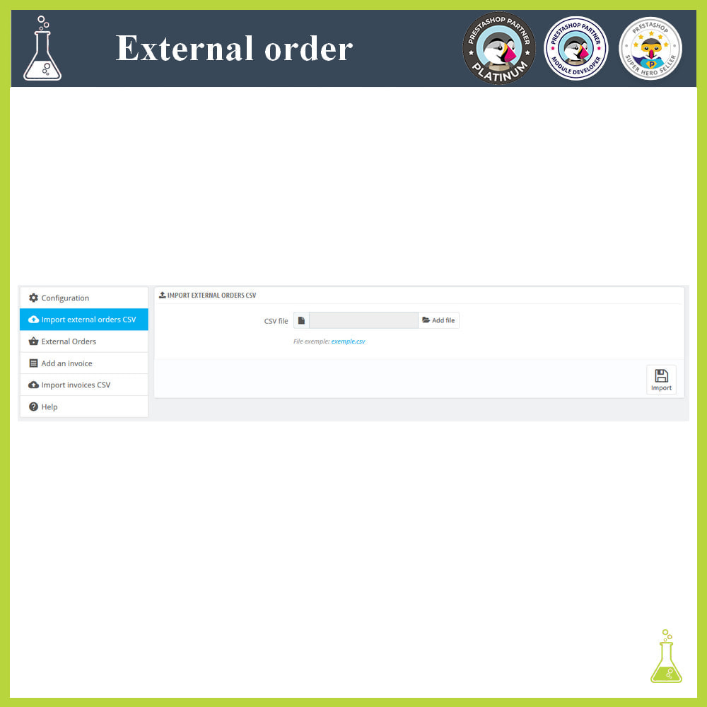 module - Order Management - Import external orders - 4
