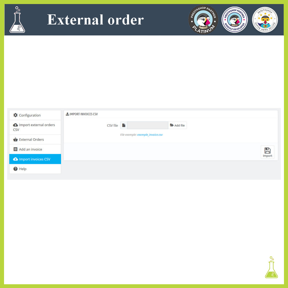 module - Order Management - Import external orders - 11
