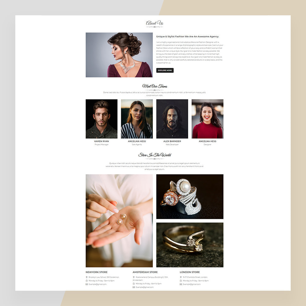 theme - Sieraden & Accessoires - Emerald Jewelry - Jewellery & Accessories Template - 10