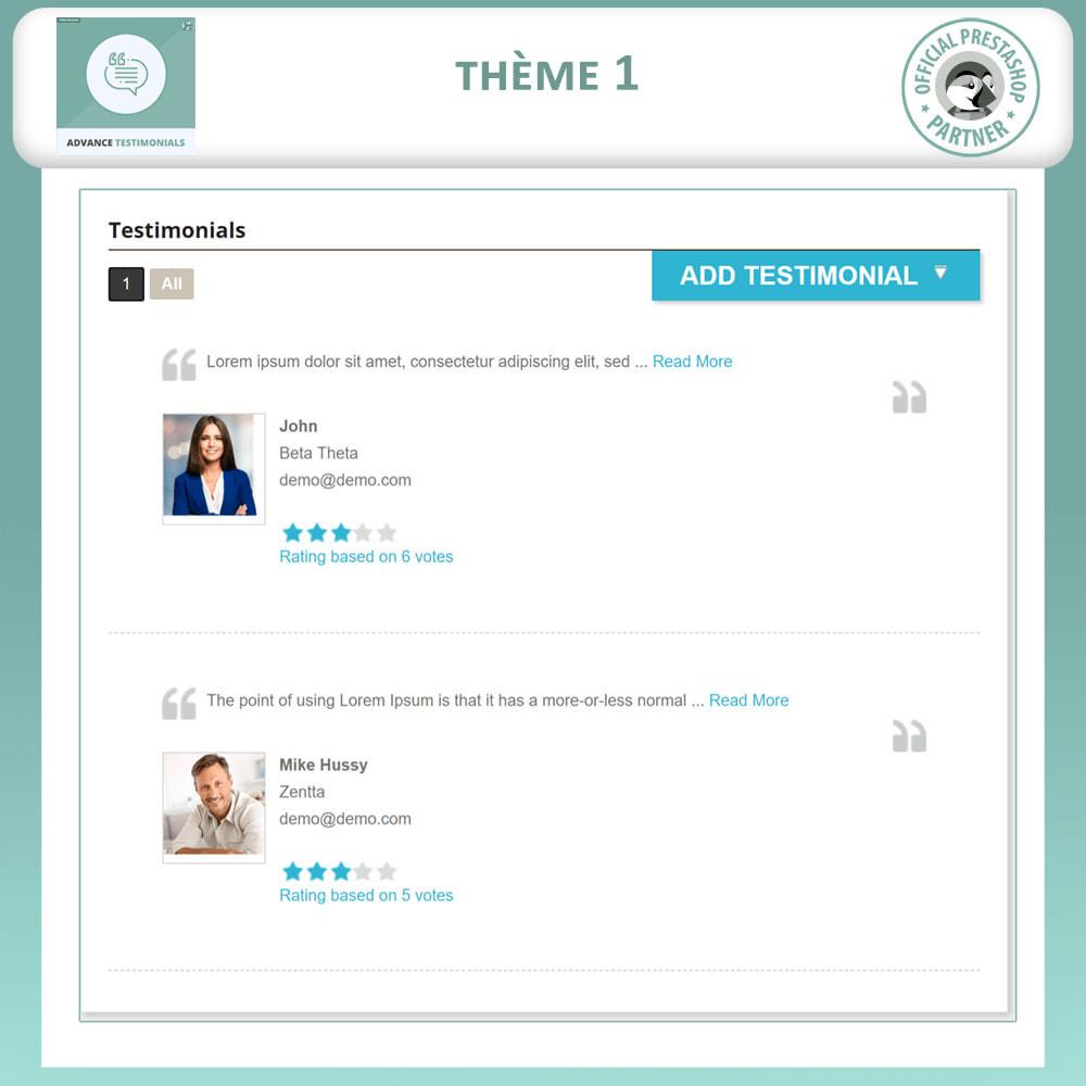 module - Avis clients - Témoignages avancés - Avis Clients avec Photos - 2