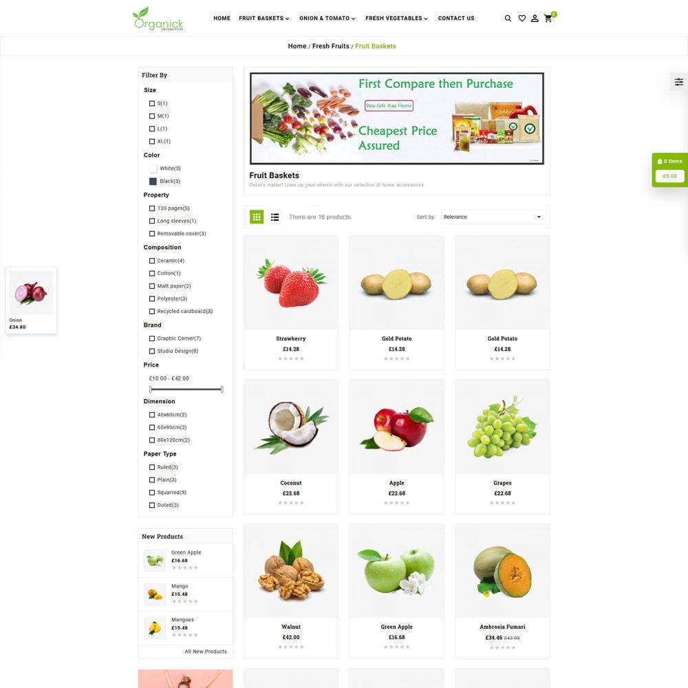 theme - Продовольствие и рестораны - Organick Organic Store - 3