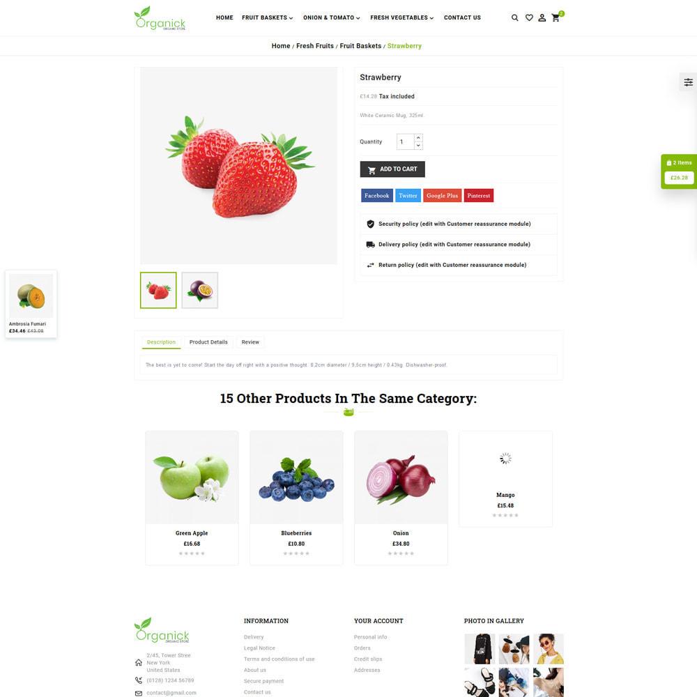 theme - Продовольствие и рестораны - Organick Organic Store - 5