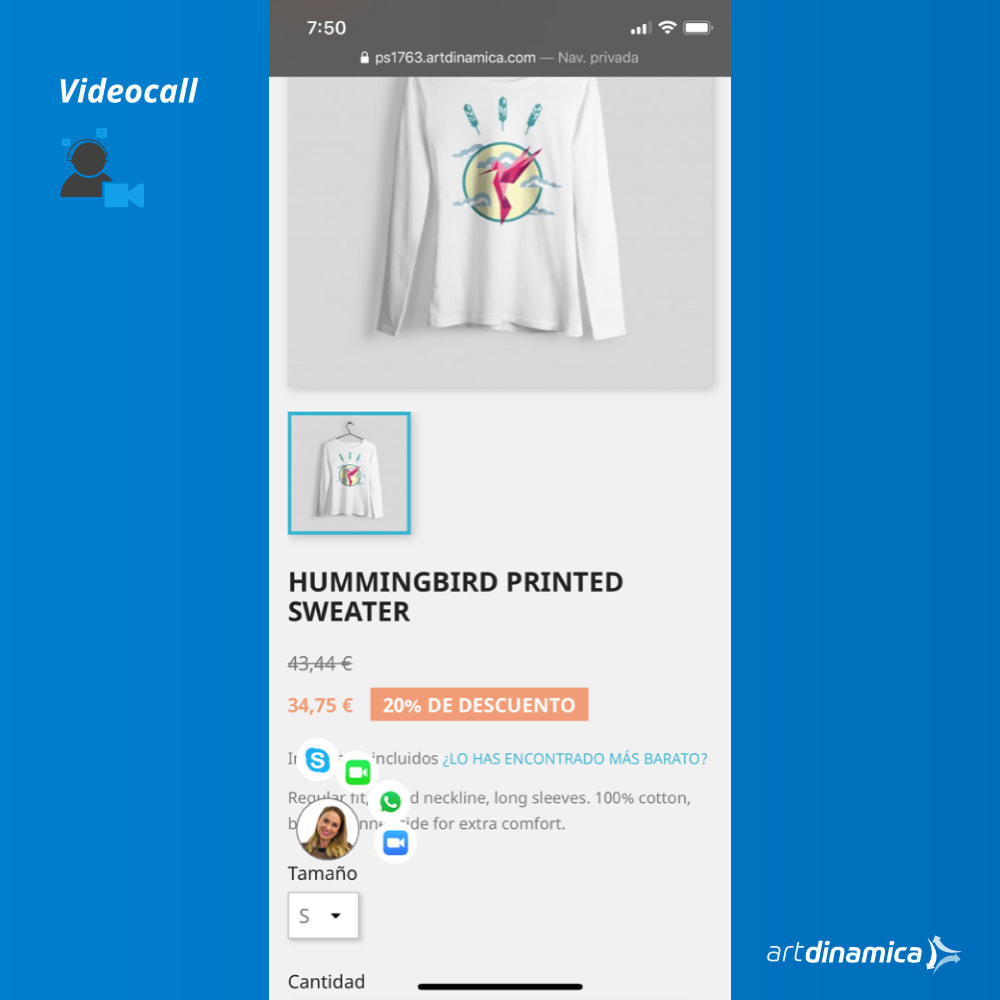 module - Suporte & Chat on-line - Video Customer Support WhatsApp, Facetime, Skype & Zoom - 2