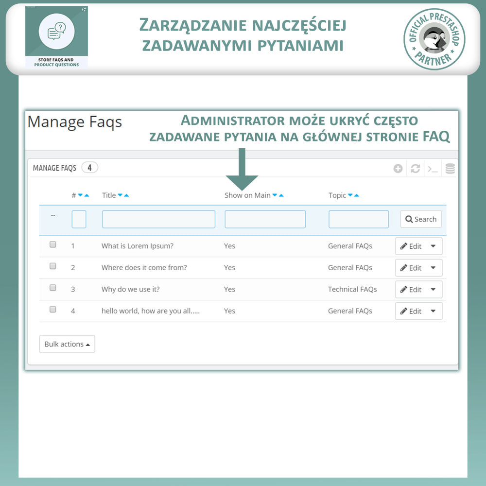 module - FAQ (Często zadawane pytania) - Sklep FAQs + Produkt FAQs (Często Zadawane Pytania) - 11