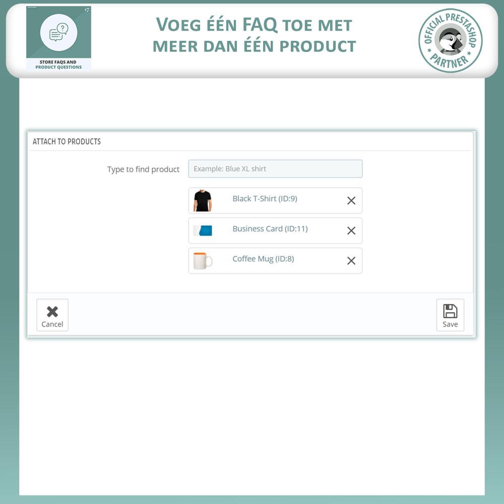 module - FAQ (Veelgestelde vragen) - Winkel FAQs + Product FAQs (Veelgestelde Vragen) - 12