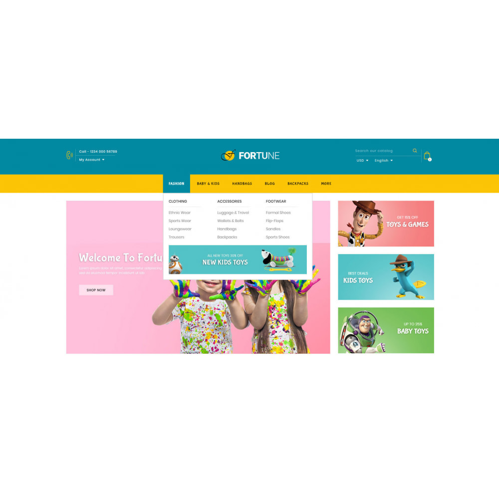 theme - Kids & Toys - Fortune - Kids Store - 6