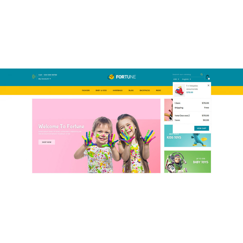 theme - Дети и Игрушки - Fortune - Kids Store - 8