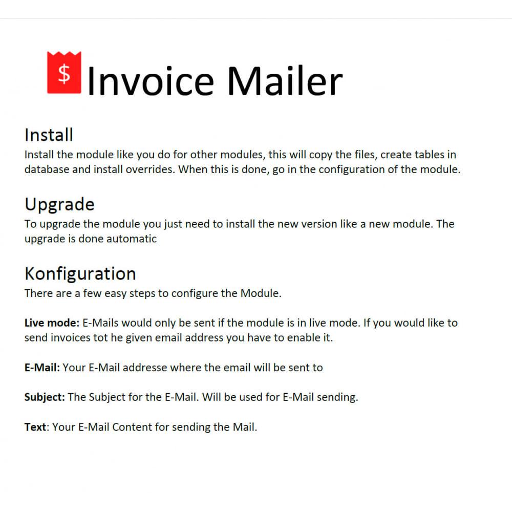 module - Export data - invoice Mailer - 3