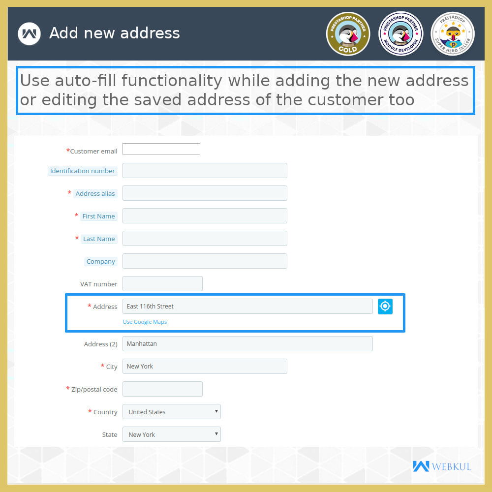 module - International & Localization - Auto-fill Address Form | Google Addresses - 15